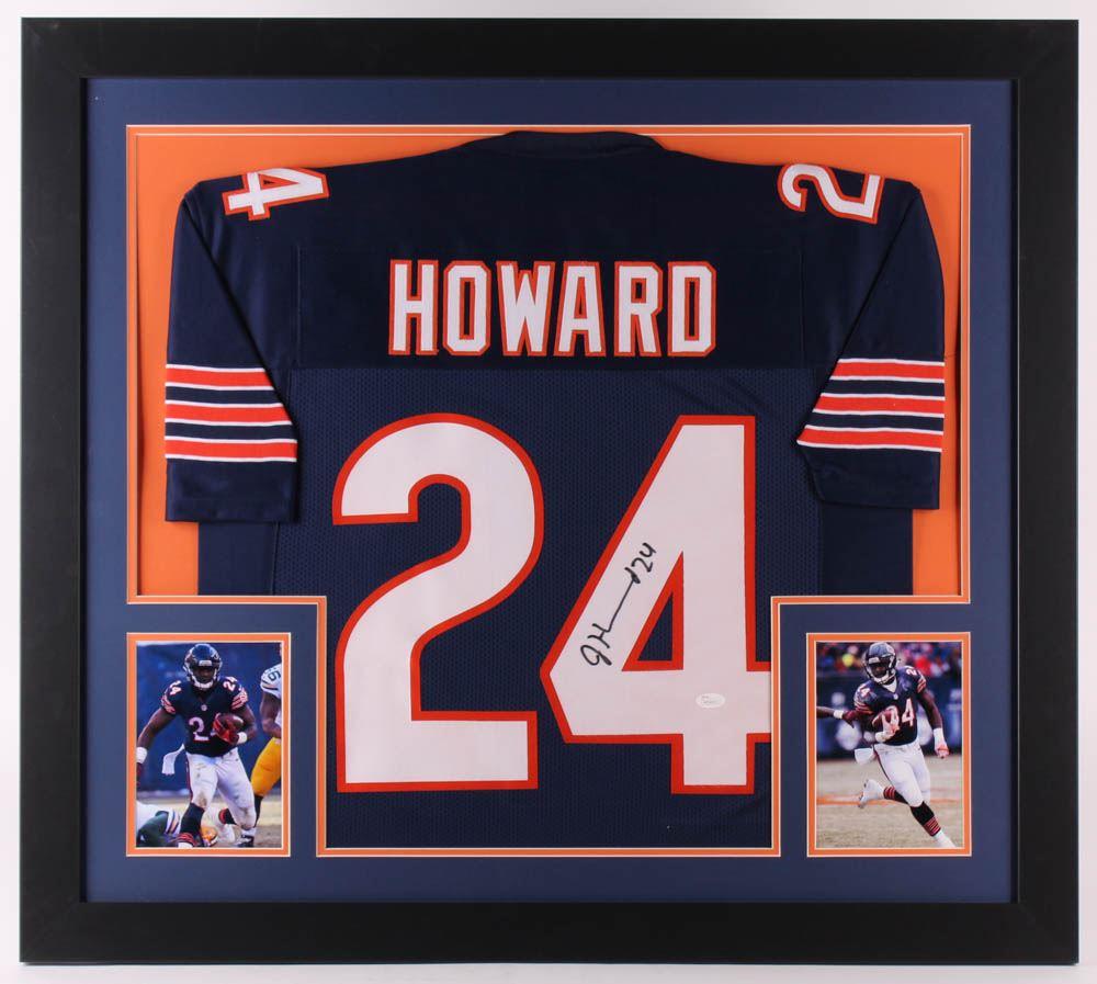 size 40 98675 21cb3 Jordan Howard Signed Chicago Bears 31.5x35 Custom ...