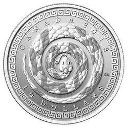 2013 $10 Year of the Snake - Pure Silver Coin