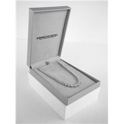 925 Sterling Silver Necklace Graduating Tennis Sty