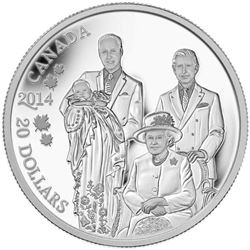 2014 $20 Royal Generations - Pure Silver Coin