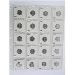 Sheet of 20 Silver 1968 10 Cents
