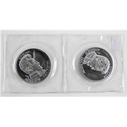 Lot (2) .9999 Fine Silver 'Andrew Jackson' Rounds
