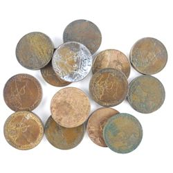 Estate Lot Canada Large Cents.