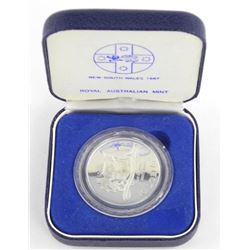 New South Wales 1987 $10.00 Silver Coin.