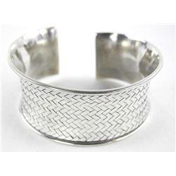 Estate 925 Silver Bangle/Cuff 36GM.
