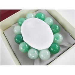Jade - Stone 18MM Flex Bracelet.