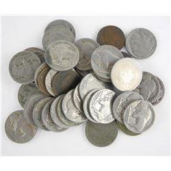 Estate Lot USA Buffalo & Indian Head Nickels.