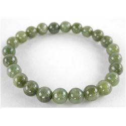 Jade Bead Flex Bracelet.