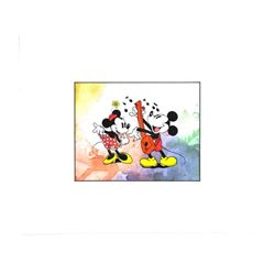"""""""Mickey & Minnie"""" Hand Painted - Matted."""