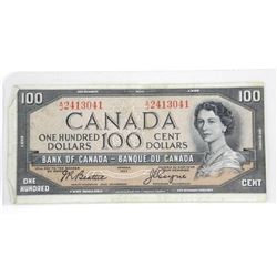 Bank of Canada 1954 $100.00 M.P B/C.