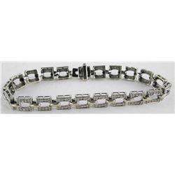 Estate 14kt White Gold Bracelet 14gm.