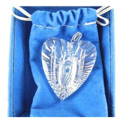 Waterford Crystal Heart Pendant.