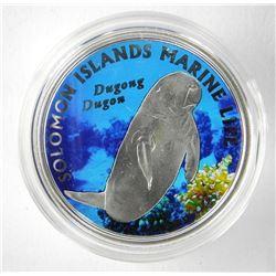 2011 $10 Dugong Dugon (Solomon Islands) - Sterling
