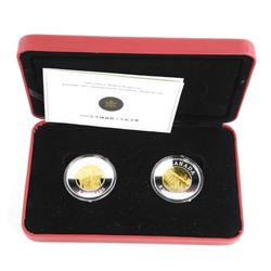 .9999 Fine Silver 2 x $8.00 Coin Set Chinese Railw