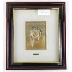 925 Solid Sterling Silver/Gold Overlay Framed Plaq