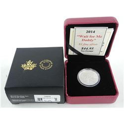 .9999 Fine Silver $3.00 Coin 'Wait For Me Daddy'