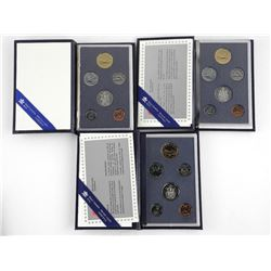 Lot (3) Specimen Mint Sets 1988 1990 1995.