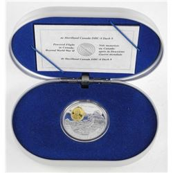 925 Sterling Silver $20.00 Proof Coin w/23kt Gold