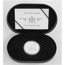 925 Sterling Silver $20.00 Proof Coin Steam Buggy.