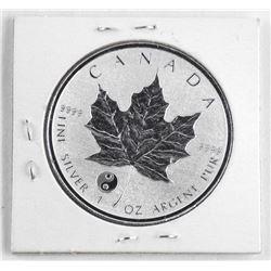 2016 .9999 Fine Silver Maple Leaf $5.00 Panda Priv