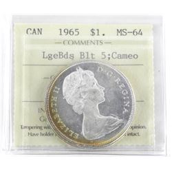 1965 Canada Silver Dollar Large Beads - Blt 5; Cam