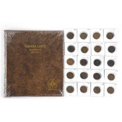 Lot (20) Canada Large Cents with NEW Uni Safe Albu