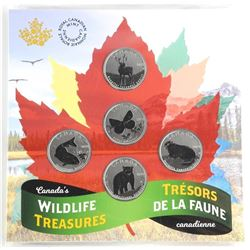 RCM 2019 Wildlife Treasure 5 Coin Folio
