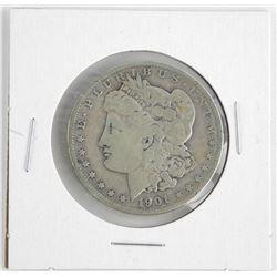 1901 USA Morgan Silver Dollar