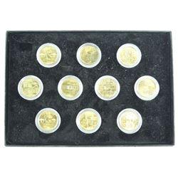 Collection USA Quarter Dollar Coins (10)