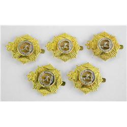 Lot (5) South Sask. Regt. Queens Crown Cap Badges
