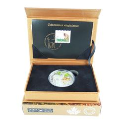 RCM 'The Deer Fawn' Stamp and Coin Set LE 4000 .9999 Fine Silver $20.00 Coin and Stamp