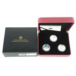 925 Sterling Silver 3 Coin Set Legendary Nature