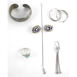 Grouping (6) Sterling Silver Estate Jewelery