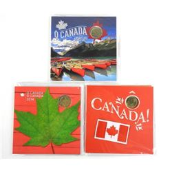 Lot (3) OH Canada UNC Coin Sets Gift Folios