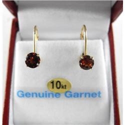 (BB18) 10kt Gold Earrings, 2 Basket Set Almondite