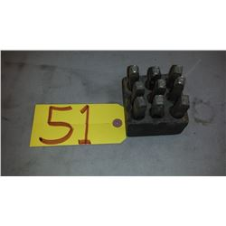 """Set of Number Punches 3/8"""""""