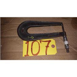 "Starrett No.222 Sheet Micrometer 0-1"""
