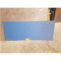 "Steel plate 5'x 24.5"" x 1/16"""