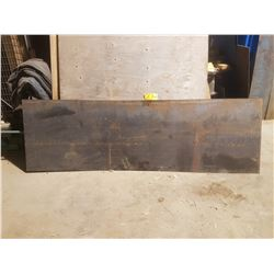 "Steel plate 96"" x 30"" x 1/16"""