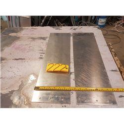 """Aluminum Plate 7"""" x 23""""11/16 x 3/16"""""""