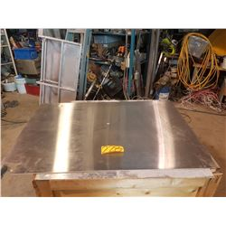 """Stainless plate with corner 32"""" x 46""""1/2"""