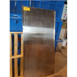 """Stainless plate with corner 32"""" x 66"""""""