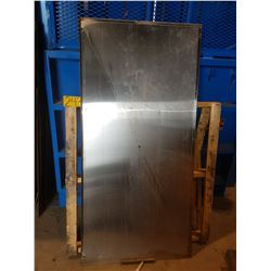 "Stainless plate with corner 32"" x 66"""