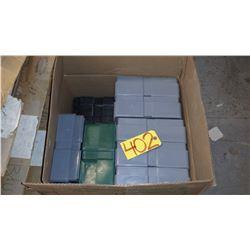 Box of plastic Boxes
