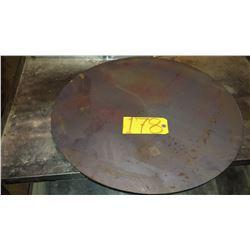 """Round Steel Plate 23""""3/8 x 1/2"""""""