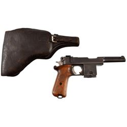 Rare Bergmann-Bayard 1910 / 21 Pistol & Holster