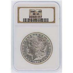 1887 NGC MS65 Morgan Silver Dollar