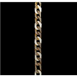 4.20 ctw Diamond Bracelet - 18KT Yellow Gold