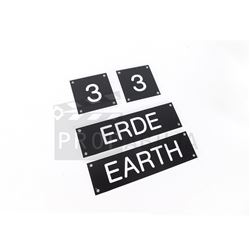 The Man in the High Castle - Parallel Universe Model Name Plates Prop (0125)