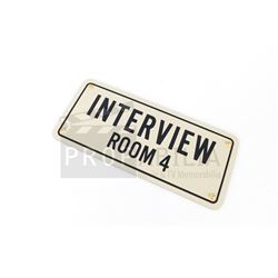 The Man in the High Castle - Interview Room Sign Prop (0035)